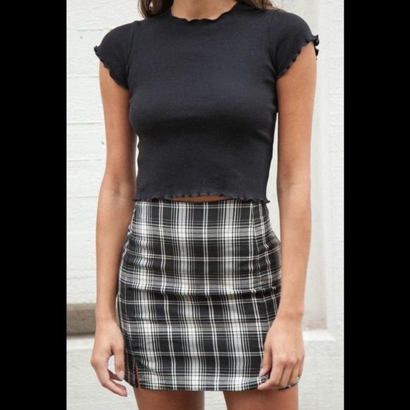 0ca443c599 Brandy Melville Skirts | Plaid Cara Skirt | Poshmark
